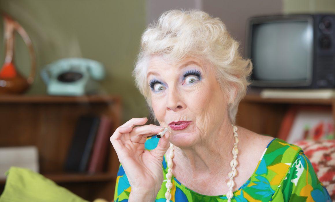 blowende bejaarde